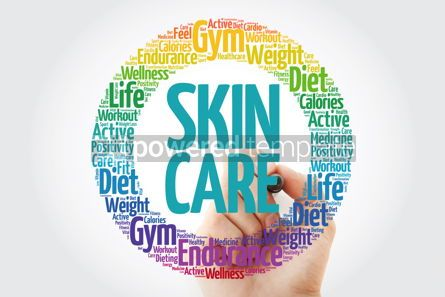 Health: Skin care word cloud with marker health concept background #10912