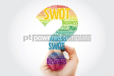 Business: SWOT Analysis question mark word cloud with marker business str #10941
