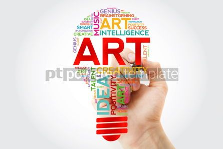 Business: ART bulb word cloud with marker creative concept #10946