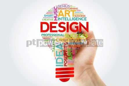 Business: Design bulb word cloud with marker concept background #10950