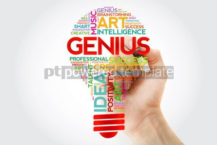 Business: Genius bulb word cloud with marker concept background #10951