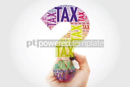 Business: Tax Question mark word cloud business concept with marker #10963