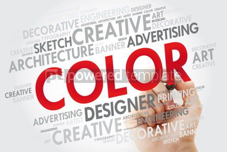 Business: COLOR word cloud with marker creative business concept backgrou #10965