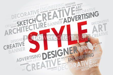 Business: STYLE word cloud with marker concept background #10967
