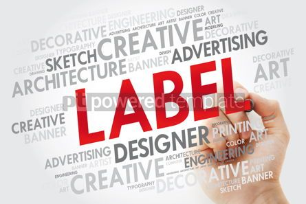 Business: LABEL word cloud with marker business concept #10969