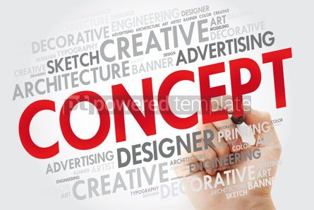 Business: CONCEPT word cloud with marker business concept #10970