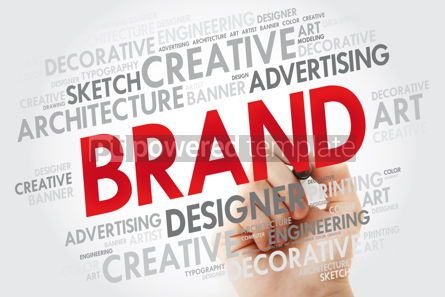 Business: BRAND word cloud with marker business concept #10971