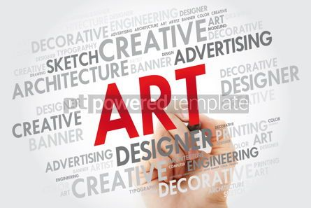 Business: ART word cloud with marker business concept #10972