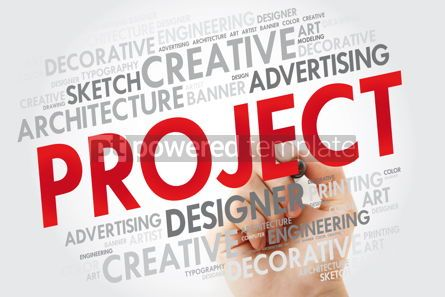 Business: PROJECT word cloud with marker business concept #10973