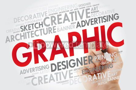 Business: GRAPHIC word cloud with marker concept background #10975