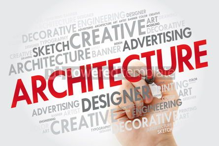 Business: Architecture word cloud with marker creative business concept b #10976