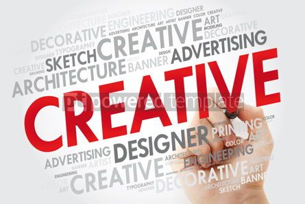 Business: CREATIVE word cloud with marker business concept #10978