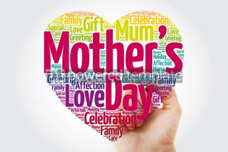 Holidays: Mother's day heart word cloud with marker holiday concept backg #10979