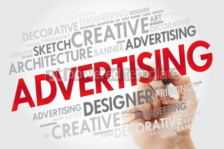 Business: ADVERTISING word cloud with marker business concept #10980
