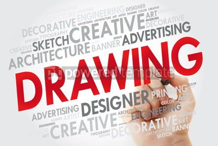 Business: DRAWING word cloud with marker creative business concept backgr #10981