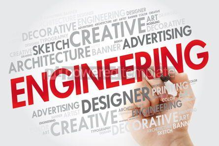 Business: Engineering word cloud with marker concept background #10982