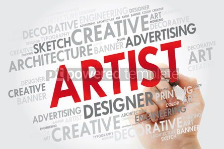 Business: ARTIST word cloud with marker creative business concept backgro #10983