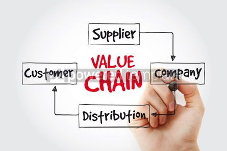 Business: Value chain process steps with marker business concept strategy #11014