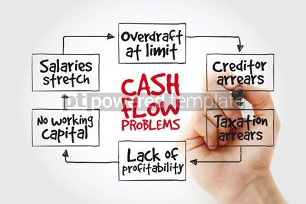 Business: Hand writing Cash flow problems with marker business concept st #11015