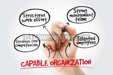 Business: Hand writing Capable organization with marker business concept  #11016