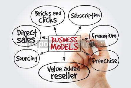 Business: Hand writing Business models with marker business concept strat #11017