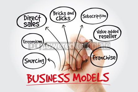 Business: Hand writing Business models with marker business concept strat #11018