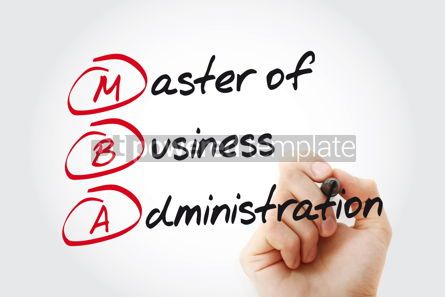 Business: MBA - Master of Business Administration with marker acronym bus #11022