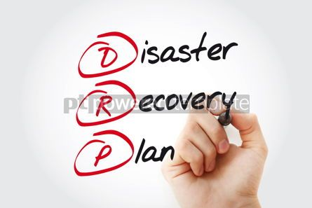 Business: Hand writing DRP - Disaster Recovery Plan with marker acronym b #11027