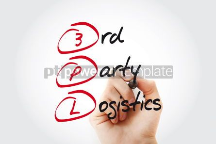 Business: Hand writing 3PL - 3rd Party Logistics with marker acronym busi #11028