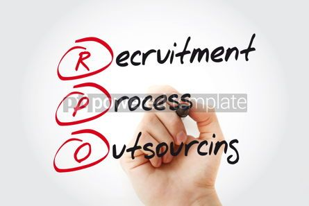 Business: Hand writing RPO - Recruitment Process Outsourcing with marker  #11029