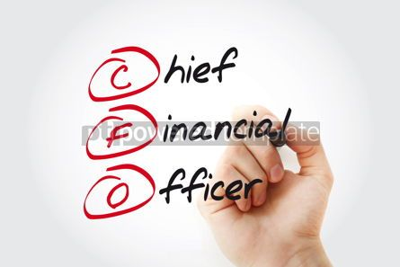 Business: Hand writing CFO - Chief Financial Officer with marker acronym  #11032