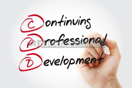 Business: Hand writing CPD - Continuing Professional Development with mark #11035