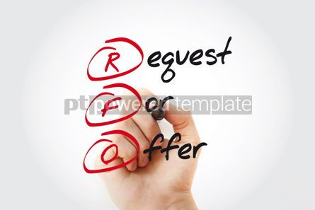 Business: Hand writing RFO - Request For Offer with marker acronym busine #11038