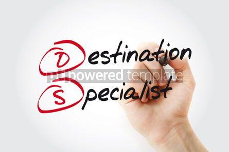 Business: Hand writing DS - Destination Specialist with marker acronym bu #11041