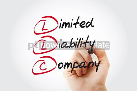 Business: Hand writing LLC - Limited Liability Company with marker acrony #11042