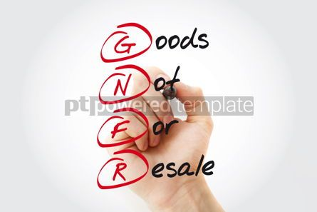 Business: Hand writing GNFR - Goods Not For Resale with marker acronym bu #11044