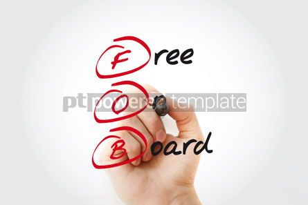 Business: FOB - Free On Board acronym with marker business concept #11046
