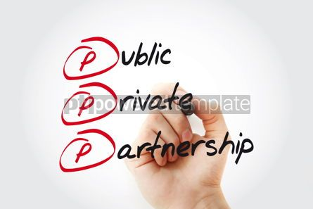 Business: PPP - Public-private partnership acronym with marker business c #11054