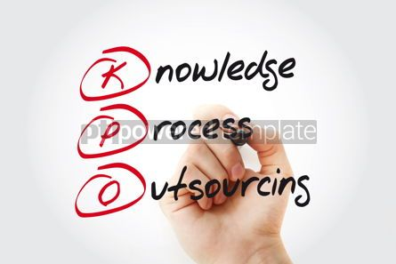 Business: Hand writing KPO - Knowledge Process Outsourcing with marker ac #11058