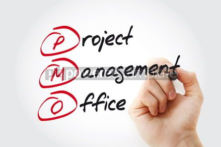 Business: Hand writing PMO - Project Management Office with marker acrony #11059