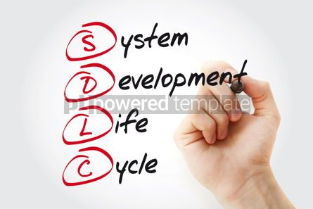Business: Hand writing SDLC - System Development Life Cycle with marker a #11060