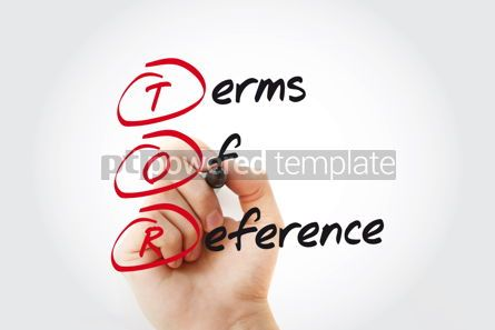 Business: Hand writing TOR - Terms of Reference with marker acronym busin #11062