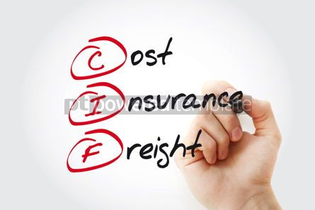 Business: Hand writing CIF - Cost Insurance Freight with marker acronym b #11064