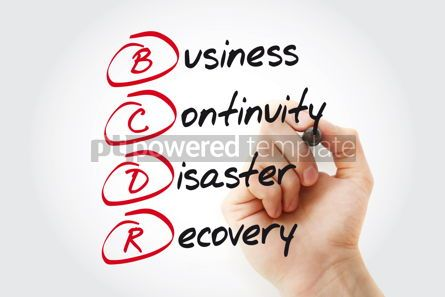 Business: Hand writing BCDR - Business Continuity Disaster Recovery with m #11066