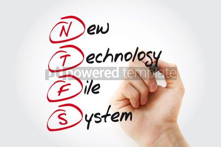 Business: Hand writing NTFS New Technology File System with marker acrony #11069
