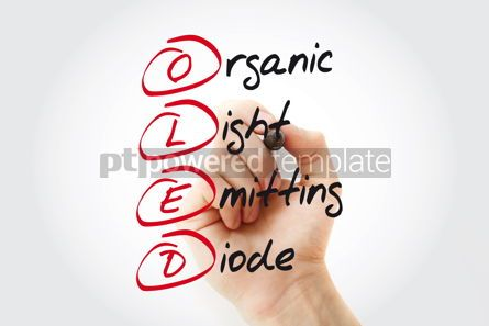 Business: Hand writing OLED Organic Light-Emitting Diode with marker acro #11071