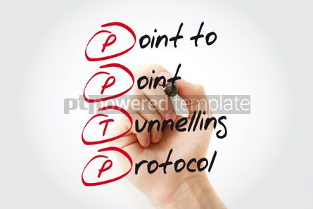 Business: Hand writing PPTP Point to Point Tunnelling Protocol with marker #11072