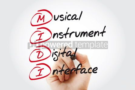 Business: MIDI Musical Instrument Digital Interface acronym concept with  #11074