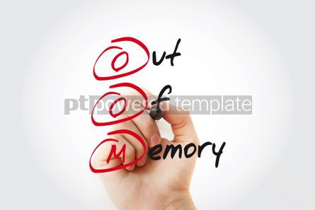 Business: Hand writing OOM Out of Memory with marker acronym business con #11075