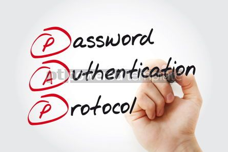 Business: Hand writing PAP Password Authentication Protocol with marker a #11080